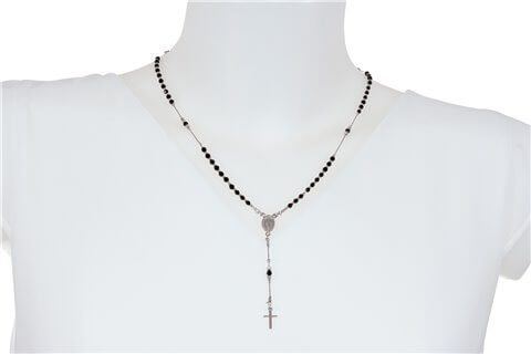 Rosario in argento