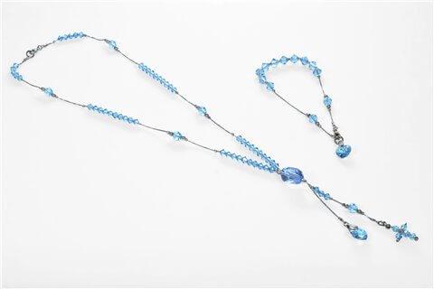 Parure swarosky azzurro