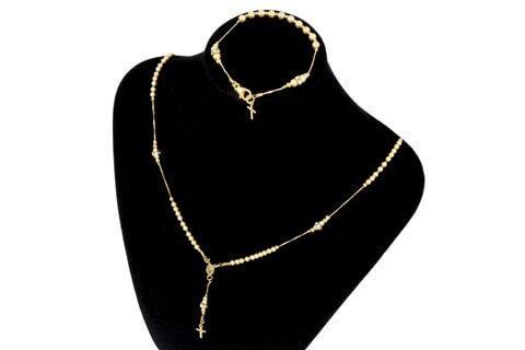 Parure rosario dorato