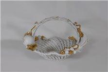 Centrotavola rotondo in ceramica