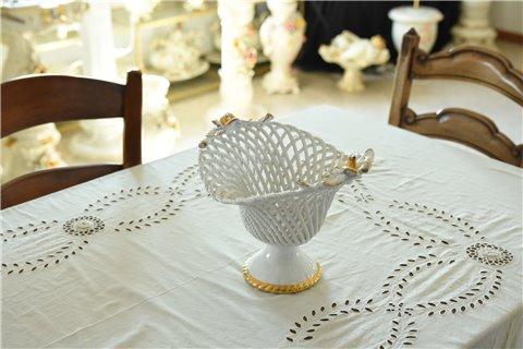 Alzata portafrutta in ceramica
