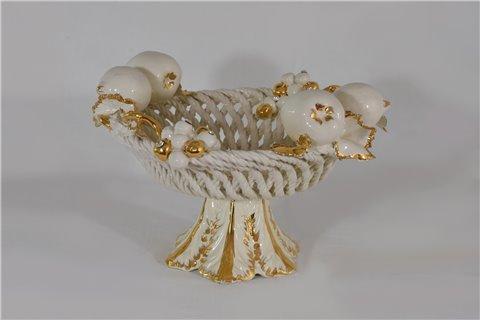 Alzata centrotavola in ceramica
