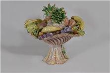 Alzata centrotavola in ceramica colorata