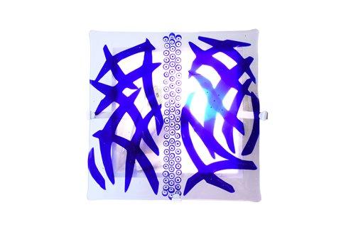 Lampe à mur en fusion de verre blu