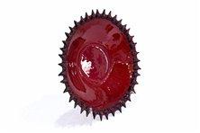 Centrotavola in vetrofusione rosso