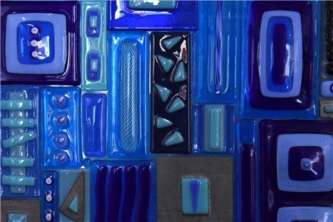 Pannello luminoso blu