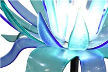 Piantana in vetrofusione fiore