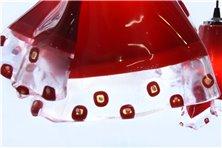 Lampadario tris rosso