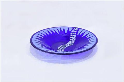 """Milieu de table rond en verre """"fiume"""""""
