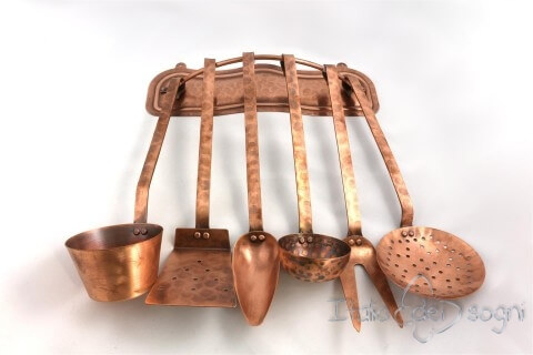 Handmade copper ladles-set