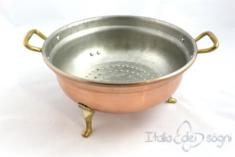 Handmade copper strainer