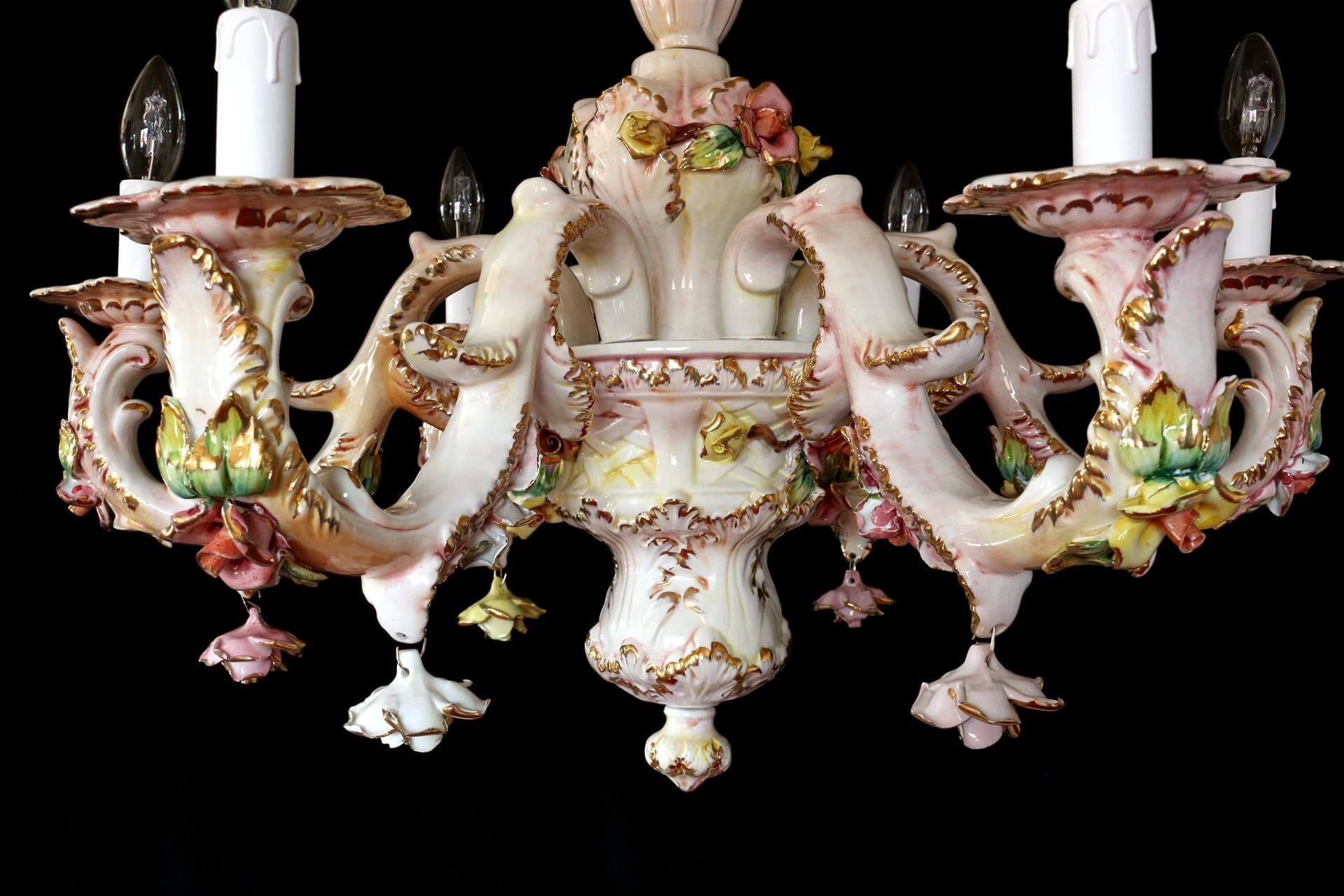 Lampadario Ceramica Di Bassano.Lampadario Ceramica Di Bassano Lando Lampadario In Biscotto Di