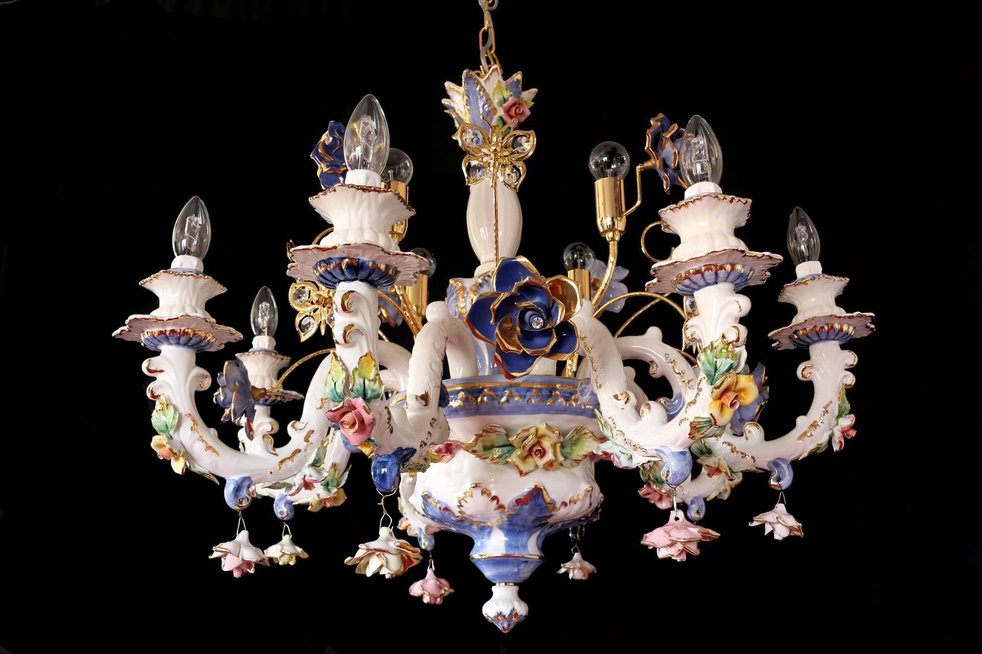 Lampadario Ceramica Di Bassano.Lampadario Ceramica Di Bassano Del Grappa Bassano Lampada In
