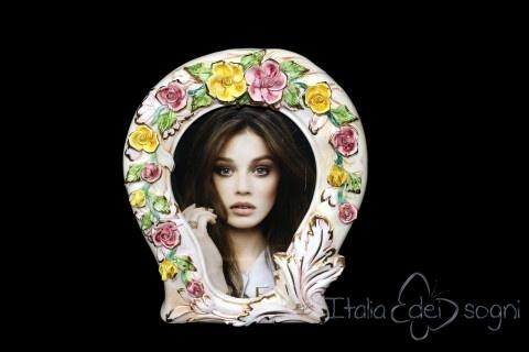 Portafoto con fiori