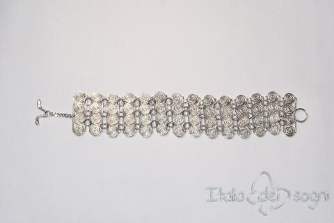 Bracciale Piceno in argento e spirali piccole