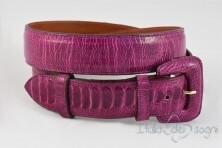 Women's belt in suede leather