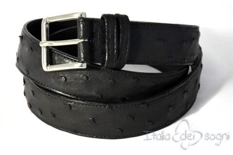 Women's belt with golden brass