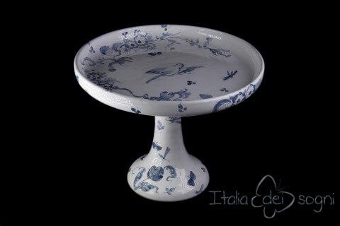 Zuppiera con vassoio in ceramica