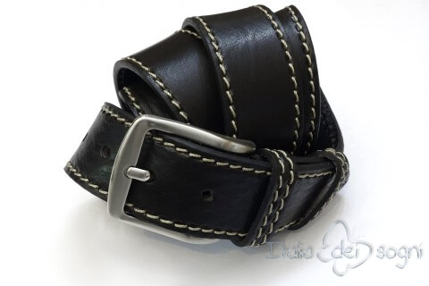 "Men's belt ""Tancredi nero"""
