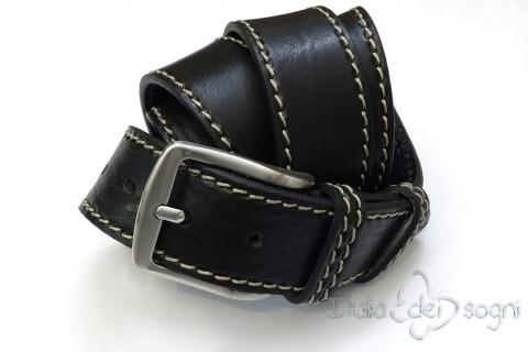 """Cintura da uomo """"Tancredi nero"""""""