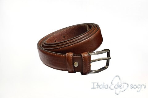 "Classic men's belt ""Tazio marrone"""