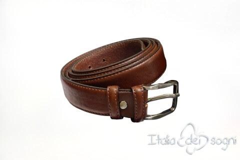 "Classic men's belt ""Tazio marrone"""