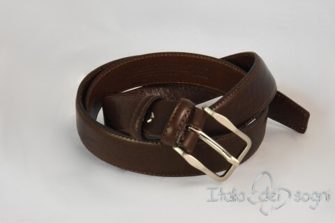 "Classic men's belt ""Tazio moro"""