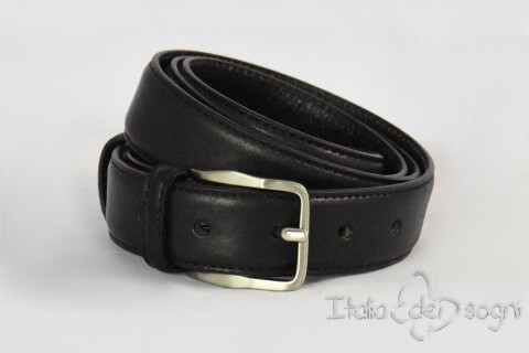 "Classic men's belt ""Tazio nero"""