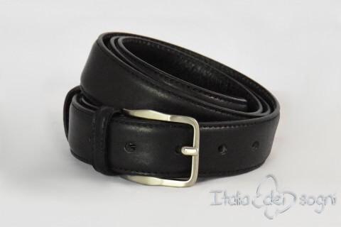 """Classic men's belt """"Tazio nero"""""""