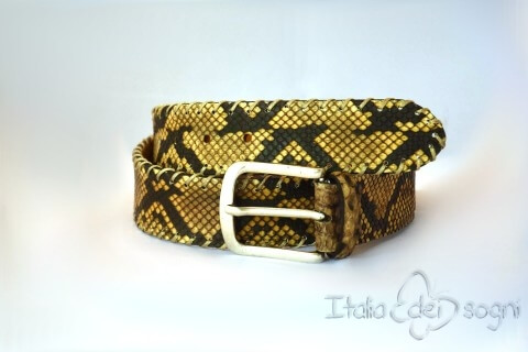 "Men's belt ""Urbano gialla"""