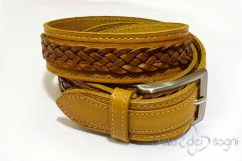 """Unisex belt """"Egidio senape"""""""