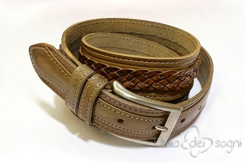 """Unisex belt """"Egidio taupe"""""""