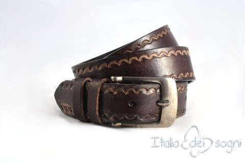 "Leather belt ""Boris moro"""