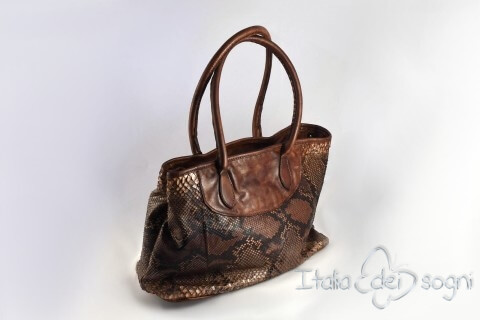"Borsa shopper ""Delia marrone"""