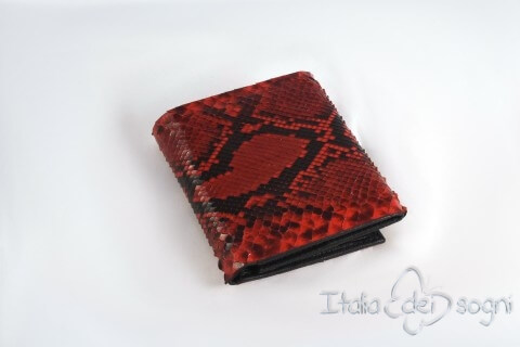 """Small men's wallet """"Saul rosso"""""""