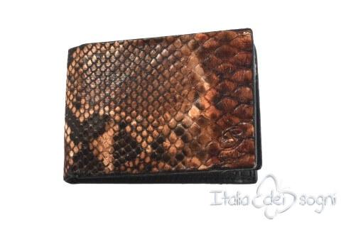 "Small men's wallet ""Sirio marrone"""