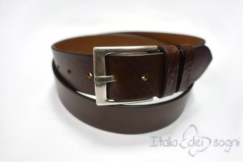 "Men's belt ""Leo marrone"""