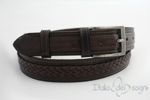 "Unisex belt ""Egidio marrone"""