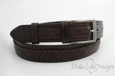"""Unisex belt """"Egidio marrone"""""""