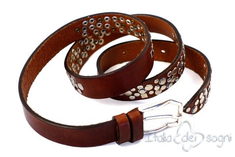 "Leather belt ""Estrella marrone"""