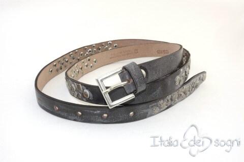 "Tight leather belt ""Estrella s lavagna"""