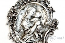 """Mother and Son"" holy water font"