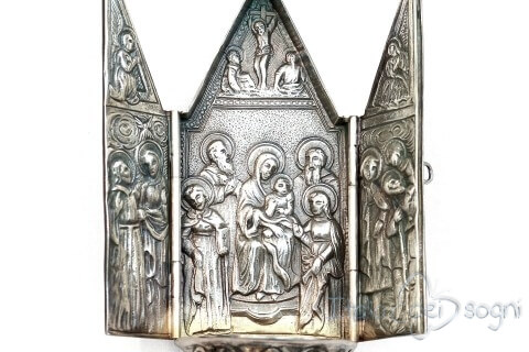 """""""Triptych"""" holy water font"""
