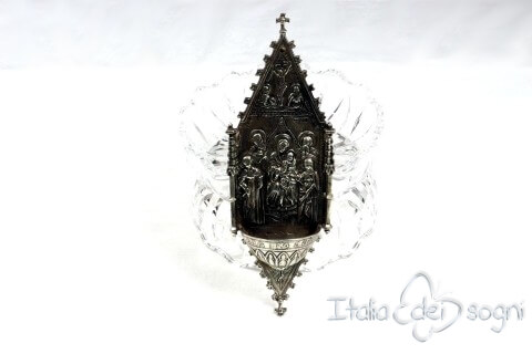 """""""Altarpiece"""" holy water font"""