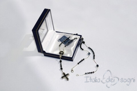 Rosary in Silver and Swarovski