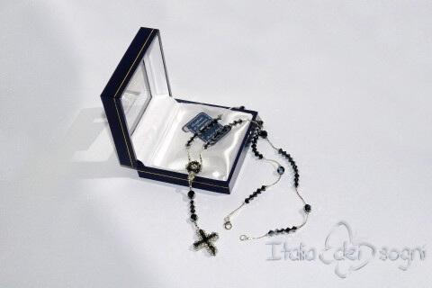 Rosaire en argent et Swarovski