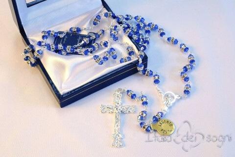 Rosary in Silver and Swarovski
