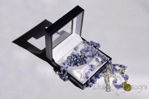 Rosenkranz aus Silber und Swarowski