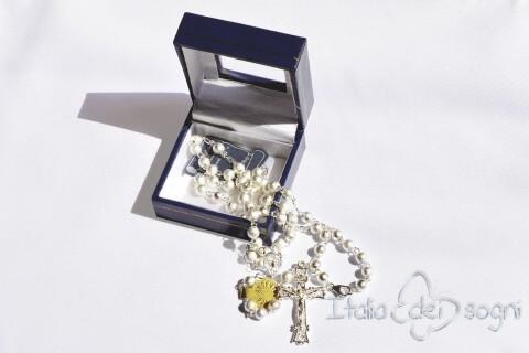Silber Rosenkranz Halskette