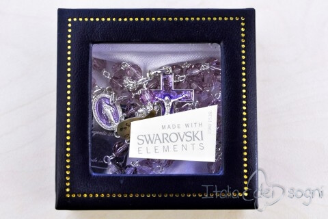 Rosary in Silver and Swarovski for Neck